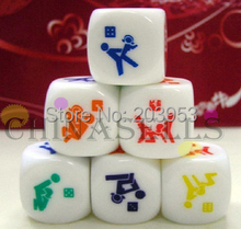 KTV bar game fun sexy couple dice toys adult sexy erotic lovers creative gift party dice free ship