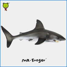 Mr.Froger Carcharodon Megalodon Model Giant Tooth Shark Sphyrna Aquatic Creatures Wild Animals Zoo Modeling Plastic Sea Lift Toy