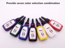 7 Bottles Of Black Tattoo Ink 1/2 OZ/Bottle Free Shipping /Pigment Outlining Ink 7 Colors Can Be Choose