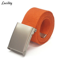 Lucidity Fashion Ladies Belts Individuality Snap button Brand Belt For Women Candy Colors Practical Canvas Belt Women