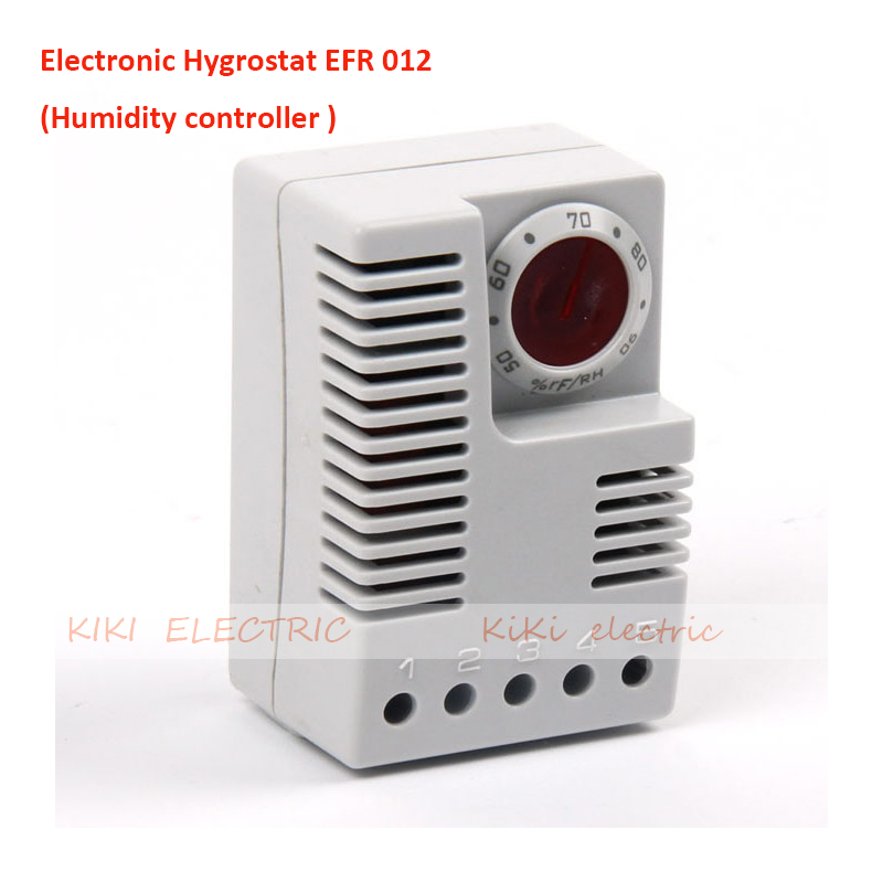 Electronic Hygrotherm EFR 012  Humidity Controller Work for Industrial Electric Cabinet DIN Rail Mounted Humidity Adjustable<br><br>Aliexpress
