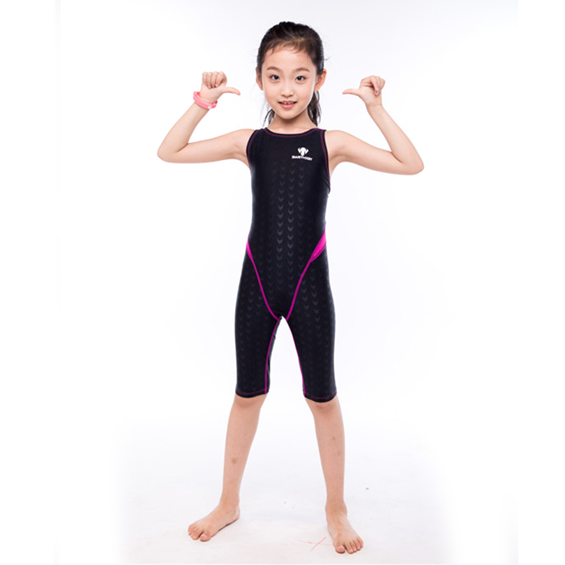 HXBY One Piece Suit Bathing Suit Kids Girls Professional Swimwear Girls Training Swimming Suits Swimming Clothing for Children<br>