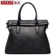 ZOOLER bags handbags women famous brands High end women leather bag fashion bolsas Serpentine grain purple color bag #3615