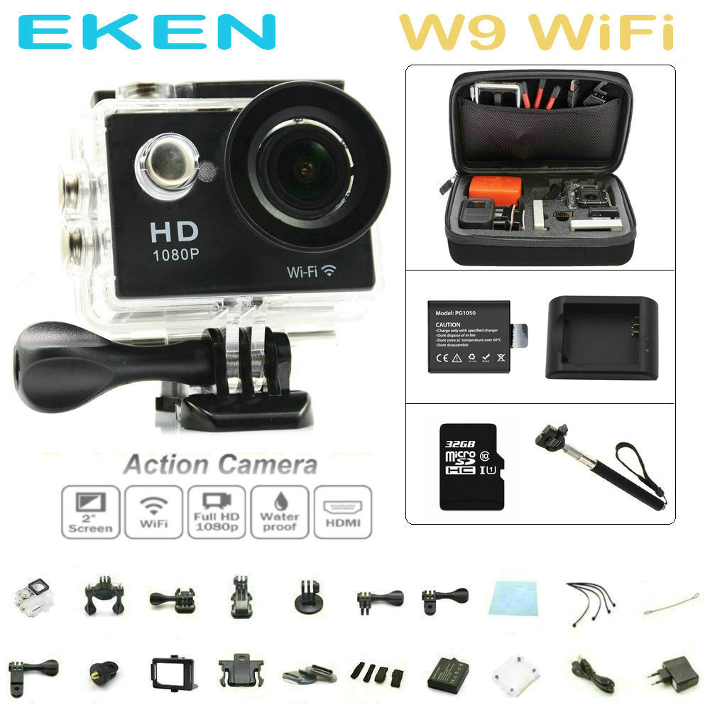 EKEN W9 wifi Action Cam Full HD waterproof camera ...
