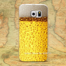 A Glass of Beer Cool Summer Skin Pattern hard transparent clear Skin Cover Case for samsung galaxy s3 s4 s4 mini s5 s6 s6 edge