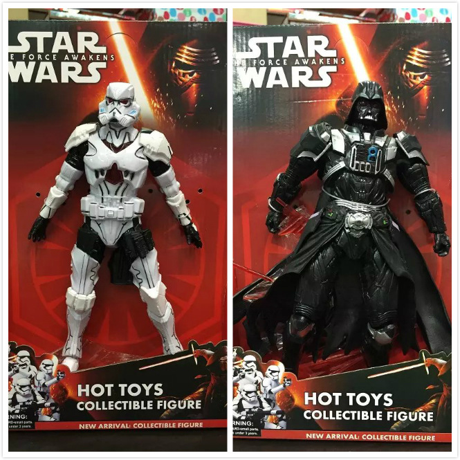 2015 hot sell Star Wars action figure 25 cm action figure darth vader white knight Childrens toys Hands and feet can activities<br><br>Aliexpress