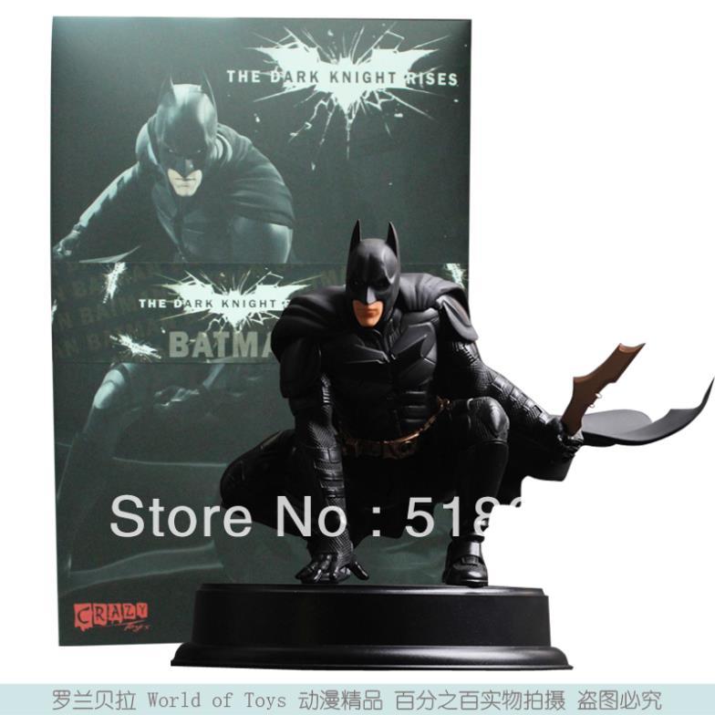 Crazy Toys Batman The Dark Night Rises Action Figure Batman Bruce Wayne PVC Figure Toy Model 22cm New In Box Free Shipping<br>