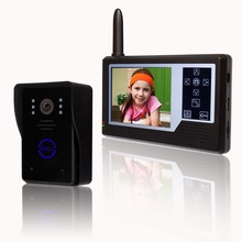 3.5 inches wireless colour video door phone 1 to 1 / night vision(China)