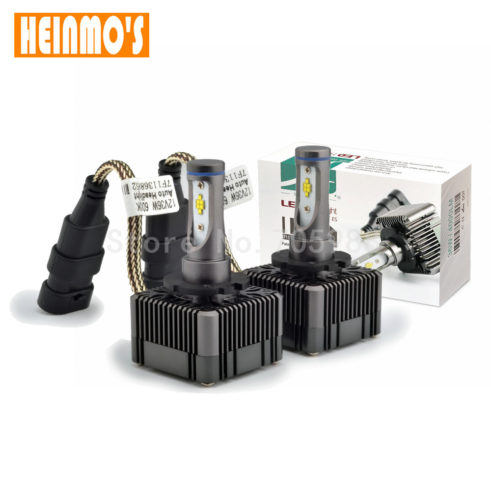 1 pair High Quality Car Headlight Bulbs D1S D3S D1R D3R LED 6000K D1 head lamp Replacement Bulbs D1S Car Light White 36W 12V  <br>