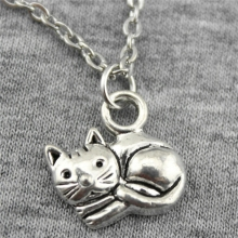 Buy Wholesale 30pcs 2 Colors 15*13mm Cat Pendant Metal Chain Necklace, Fashion Necklace Jewelry Gift Women for $16.14 in AliExpress store