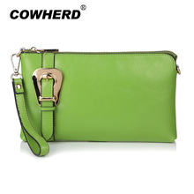 Fashion Buckle Women Genuine Leather Bags Shoulder+Messenger+Day Clutches+Wristlet Evening Multifunction Handag,CN-8008