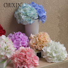 54pcs petal composition silk Hydrangea flower head big size wedding flowers wall decoration Bride bouquet Accessories 20pcs/lot(China)