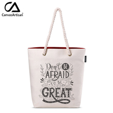 Canvasartisan women's canvas tote shoulder bag cute stylish pattern printed female casual handbags daily bookbag shopping bags