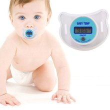 Baby Nipple Thermometer Medical Silicone Pacifier LCD Digital Children's Thermometer Health Safety Care Thermometer For Children(China)