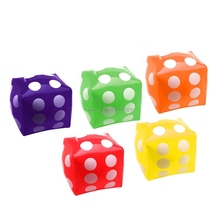 30cm Inflatable Multi Color Blow-Up Cube PVC Dice Toy Stage Prop Group Game Tool -B116(China)