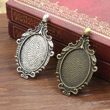 Fit 18x25mm Cabochon Antique Silver Frame Bezel Settings Pendant Tray blank Base 20pcs/lot (K05281)(China)