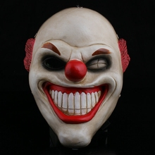 Halloween Payday2 Collector's edition game harvest day 2 red nose clown resin mask male cospla man show