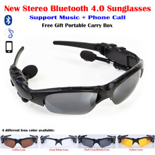 Anti-UV Stereo Earphone Wireless Bluetooth 4.0 Sunglasses Glasses Support Music+Phone Call for Camping Hiking Mountain Climbing(China)