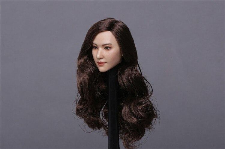GACTOYS 1//6 GC015A curls Liu Yifei Crystal Liu star Head Sculpt no Figure body
