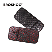 BROSHOO Car Sun Visor Leather CD DVD Storage Bags With Vehicle Organizer Pocket For Card Coin Pen Disk 32.5*15.5cm Car-styling