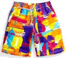 New 2015 Fashion brand new men's casual sales quickly dry beach shorts men's surfboard beach trunks(China)