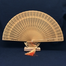 Free Shipping with Organza Bag Japanese Folding Fan Wood;Wooden Asian Pocket Fan Decoration Mariage Oornaments Kraft