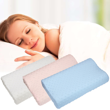 Memory Foam Orthopedic Latex Neck Pillow ModernPlain Dyed Nonwoven Slow Rebound Pillow Bedding Cervical Health Care(China)