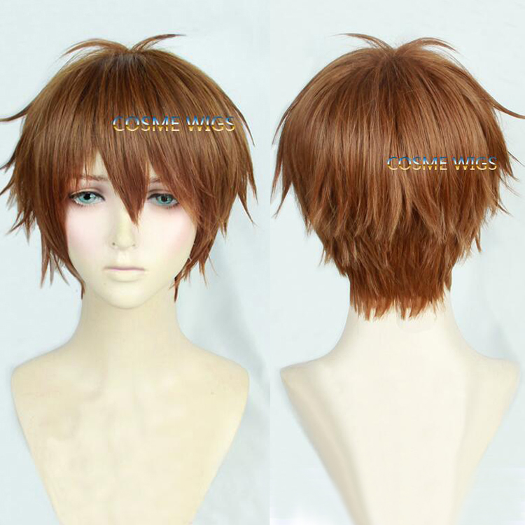High Quality Anime YURI!!! on ICE / Yuri On Ice Ji Guang-Hong Short Brown Cosplay Wig Synthetic Hair Party Wigs<br><br>Aliexpress