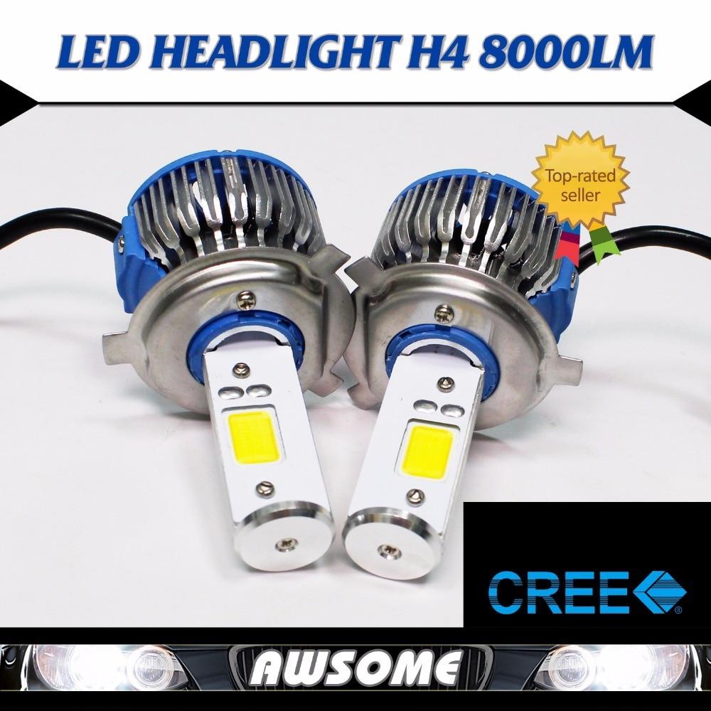 Big Sales!!! 2x H4 H4-3 HB2 Hi/Lo Beam  COB LED 48W 7200LM/Set Strong Bright White Car DRL Fog Driving Headlight Bulbs<br><br>Aliexpress