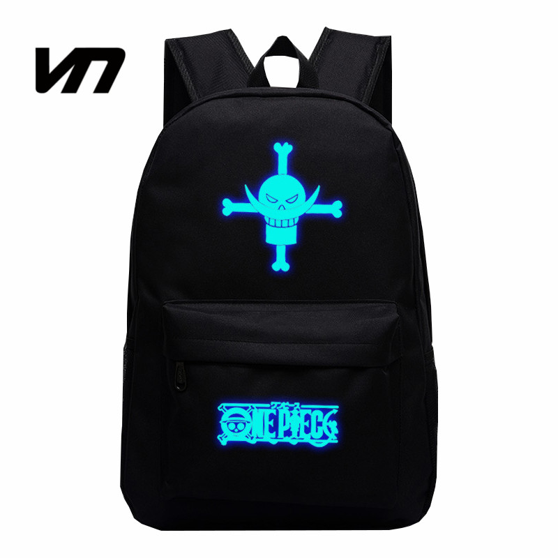 VN Big Beard Backpack One Piece Cartoon Backpack Bag Luminous Backpacks Edward Newgate Cosplay Star Canvas Bags Luffy Backpack<br><br>Aliexpress