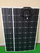 80W 12V ETFE Semi Flexible Monocrystalline Solar Panel with MC4 Connectors for 12V Charge Battery on Boats, Motor(China)