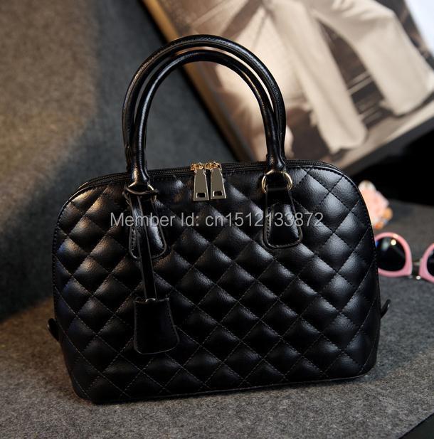 2015 New plaid womens handbag shell bag fashion one shoulder handbag messenger bag vintage big bags<br><br>Aliexpress