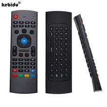 kebidu 2017 New Portable 2.4G Wireless Remote Control Keyboard Controller Air Mouse for Smart TV Android TV box mini PC black(China)