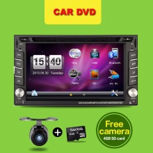 "2 din car dvd player 6.2"" gps navigation In dash steering-wheel Stereo Bluetooth Radio video size 178*100mm for opel VW toyota"
