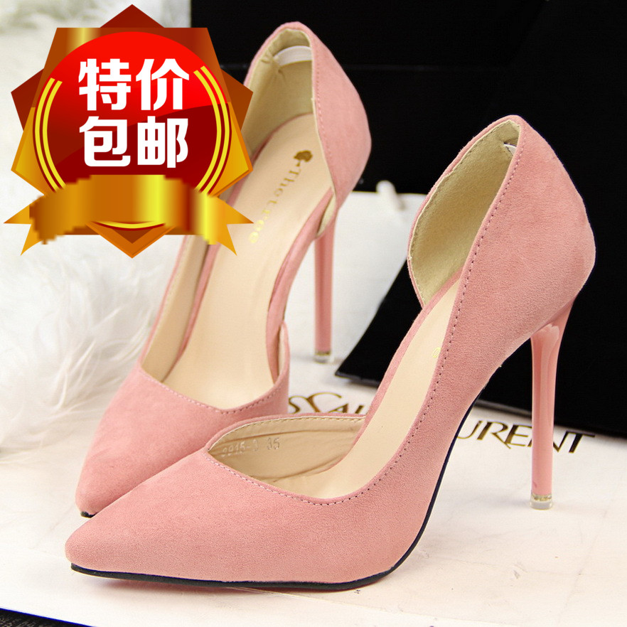 women high heel pumps shoes black pink green navy purple fashion ladies heels shoes red bottom <br><br>Aliexpress