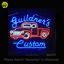 Neon Sign For Custom Guildner Neon Bulb Car Garage Glass Tube Handcrafted Pub Restaurant neon bar lights for sale custom made(China)