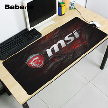 Babaite Pattern DIY Custom Made Durable Gaming Anti-slip Silicone Mouse Pad Msi Game oft Rubber Anti-slip Mice Play Mats