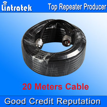 Wholesales 20 Meters 50ohms Cable Top Quality 5D Coaxial Cable 20m N Male to N male for Signal Repeater Booster and Antennas #18