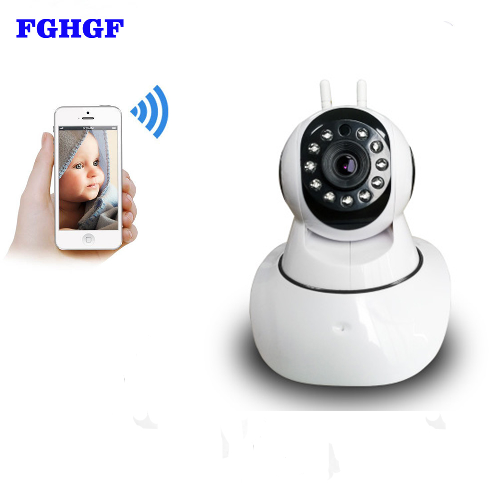 FGHGF P2P Dual Antenna Wifi Security 1.0MP Camera 720P Wireless IP Camera with Pan/Tilt 2 Way Audio Night Vision Baby Monitor<br>