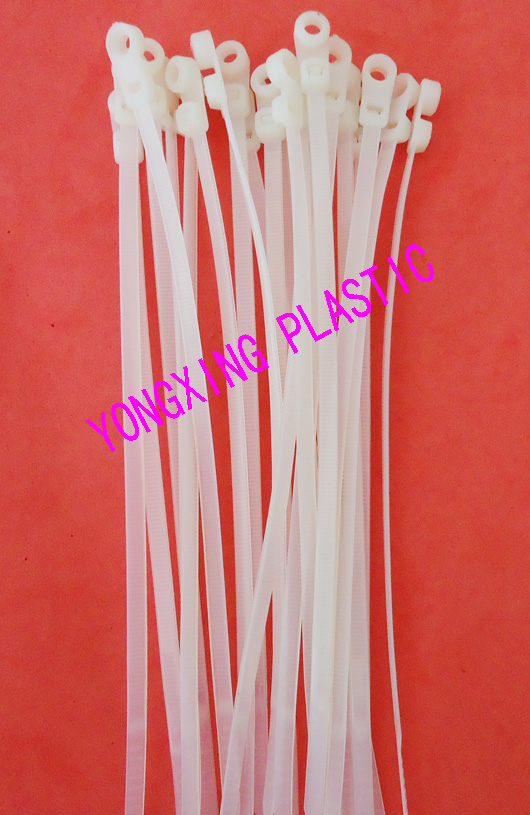 100pcs/lot nylon Zip mounted cable tie with hole 7.2*400<br>