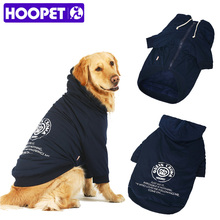 Large Dog Thick Zipper Printing Overcoat Hoodie Pet Dog Winter Clothes Warm Soft Hoodies Coat Costume Apparel