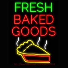 Fresh Baked Goods Neon Sign Signage Board Neon Bulbs Real GlassTube Handcrafted Decorate Window Display Super Bright Sign 31x24