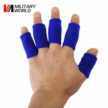 10PCS Stretchy Finger Support Tape Beathable Sleeve Guard Basketball Sports Safety Fingerstall Nylon High-Elastic Caps Protector