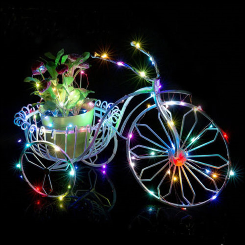 1pcs Copper Led Fairy Lights 2M 20 Leds CR2032 Button Battery Operated LED String Light Xmas Wedding party Decoration