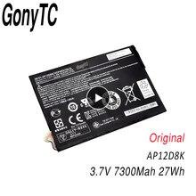 Original AP12D8K Tablet Battery For Acer For Iconia Tab A3-A10 A3-A11 W510 W510P 3.7V 7300Mah 27Wh Genuine Notebook Battery(China)