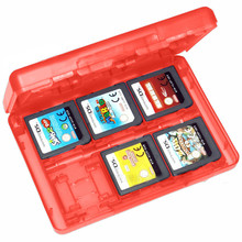 28 in1 Red Game Card Storage Box Case  for Nintendo 3DS DSL LL Holder Cartridge Box Micro SD card Storage Box Case for 3DS