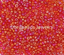 Doreen Box hot-  100 Gram Red Glass Seed Beads 10/0 Jewelry Making (B09079)