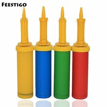4 Grades Mixed Colors Order Plastic Hand Pump For Balloon Wedding Party Festival Decoration Balloons Tools Supplies