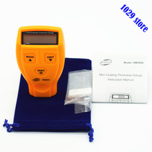 Digital Auto Coating Ultrasonic Paint Meter Tester Painting Coating Thickness Gauge with Aluminum Plate Gift Bag(China)