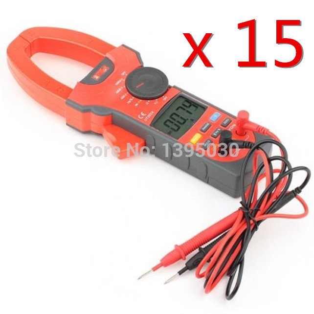 15PCS/Lot   UT207A Clamp LCD Digital Multimeter AC DC Volt Amp Ohm Hz Tester With English Manual<br><br>Aliexpress